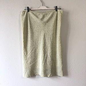 Brook brother silk floral skirt